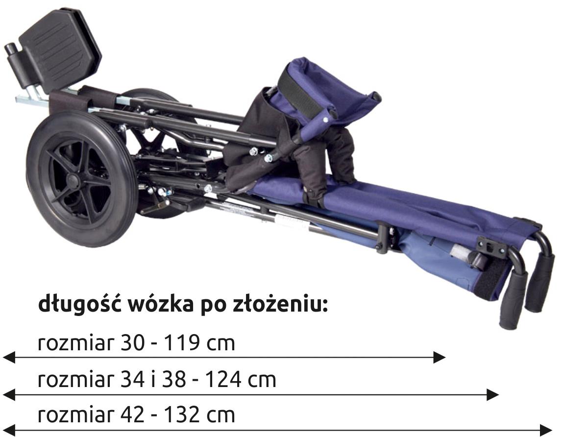 Rozmiary wózka Corzino Basic