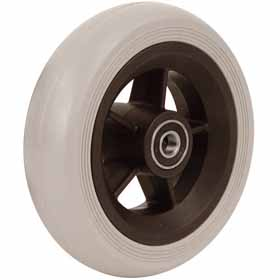 "PU rubber wheel for wheelchairs  diameter: 4"" –  100×26 mm"