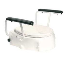 Raised toilet seat with armrests (Fixed toilet seat raiser)