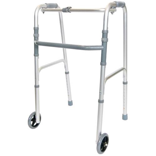 Balkonik inwalidzki kroczący (z kółkami)