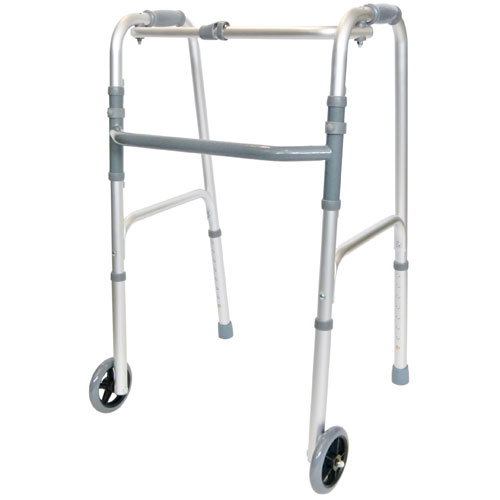 Reciprocating rehabilitation Walker with 2 front wheels