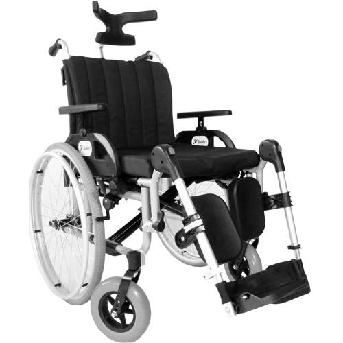 Wózek inwalidzki Barracuda stabilizujący plecy i głowę