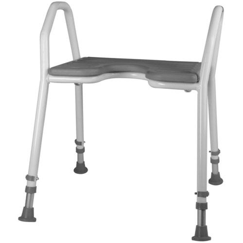 Aluminiowy stołek prysznicowy